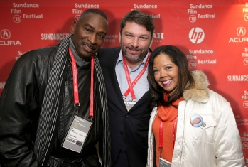 """PARK CITY, UT - JANUARY 24: Ron Davis, John M. Phillips and Lucia McBath attend the """"3 1/2 Minutes"""" premiere during the 2015 Sundance Film Festival on January 24, 2015 in Park City, Utah. (Photo by Chelsea Lauren/Getty Images for Sundance)"""