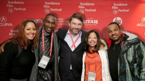 "PARK CITY, UT - JANUARY 24: (L-R) Carolina Davis, Ron Davis, John M. Phillips, Lucia McBath and Curtis McBath attend the ""3 1/2 Minutes"" premiere during the 2015 Sundance Film Festival on January 24, 2015 in Park City, Utah. (Photo by Chelsea Lauren/Getty Images for Sundance)"